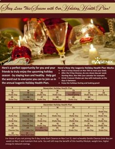 Holiday Isa schedule