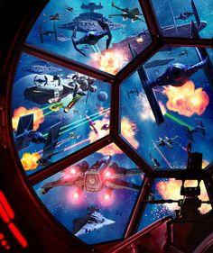 Star Wars - Battle Scene by Paul Youll *