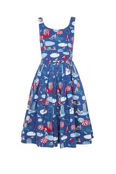 Emily & Fin Isobel dress in By the seaside print