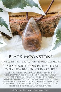 Crystals Minerals, Rocks And Minerals, Crystals And Gemstones, Stones And Crystals, Gem Stones, Crystal Magic, Crystal Healing Stones, Black Moonstone, New Energy