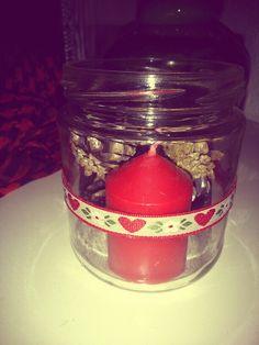 #diy #jar #candle #christmas