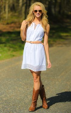 With A Chance Of Rain Dress-White - Dresses
