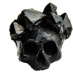 Macabre Gadgets Black Crystal Crown Ring