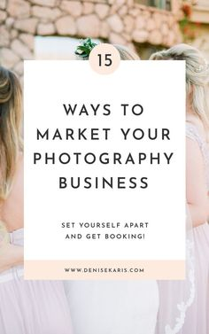 Fifteen ways to market your photography business. The best marketing doesn't feel like marketing. Take the icky commercial feeling out of it and incorporate these easy marketing methods into your business. Marketing For Photographers Photography Tutorials, Photography Backdrops, Photography Classes, Photography 101, Photography Hashtags, Digital Photography, Photography Lighting, Newborn Photography, Wedding Photography Marketing