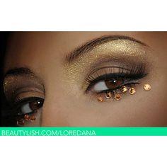 rhinestone eye makeup!