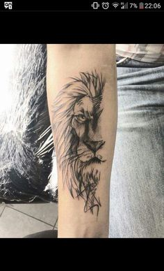 Lion Tattoo Meaning - Lion Tattoo Ideas for Men and Women with Photos - E . - Lion tattoo meaning – lion tattoo ideas for men and women with photos – a lion tattoo symbolize - Wolf Tattoos, Animal Tattoos, Tatoos, Trendy Tattoos, Tattoos For Guys, Tattoos For Women, Tattoo Women, Tattoo Symbols Men, Wrist Tattoos For Men