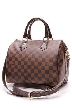 9880c40c341 Louis Vuitton Speedy 25 Bandouliere Bag - Damier Ebene Lv Handbags