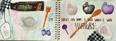 """Visual Journals #6 - Draw/Paint - """"EAT"""" - NGHS Room 406"""