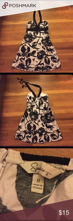 Black/white patterned summer dress. Very hot! Size 11 juniors. Great halter dress! ❤ Speechless Dresses