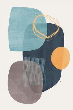 Kunstideen für das Badezimmer: Silan Art Print Tracie Andrews 24 US-Dollar Illustration Inspiration, Illustration Art, Illustrations, Minimal Art, Pattern Art, Vector Pattern, Pattern Design, Canvas Wall Art, Wall Art Prints