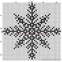 Snowflake #2 cross stitch chart from Mary Corbet