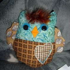 10 Minute Swap round 3 - Cute owl stuffie made by susanab