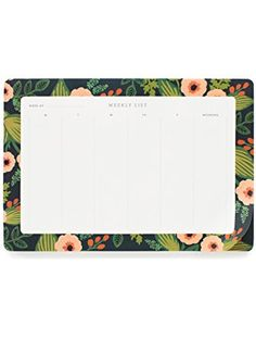 Rifle Paper Co. Jardin Weekly Desk Planner Notepad ❤ Rifle Paper Co.