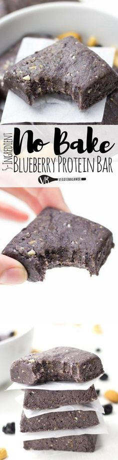 No Bake Protein Bars are super simple and the perfect copycat recipe for those delicious RX Bars. The ultimate combination of protein-packed blueberry muffin flavor. Haven't had a Blueberry RX bar yet? No need to buy to try, here is your chance for a homemade healthy, no-bake protein bar option. (Gluten Free, Dairy Free)