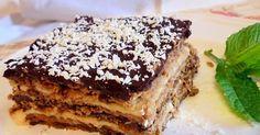 Tarta de galletas, faln y chocolate. Enlace de la receta pinchando en la imagen. Tiene una pinta buenísima
