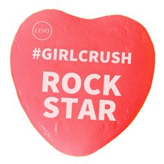 Whatever she does, she seriously rocks it. Let your favorite #GirlCrush Rock Star know how amazing she is! | Share the #levolove for Valentine's Day!