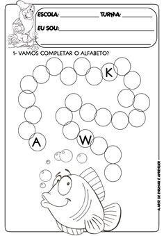 Atividade pronta sequência do alfabeto