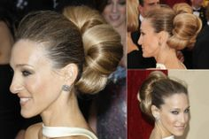 Sarah Jessica Parker - Best updos, up, do, hair, hairstyle, hairstyles, inspiration, celebrity, wedding, styles, beauty, Marie Claire