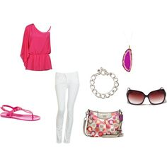 pink summer by elizabeth-mauch-bergeron on Polyvore