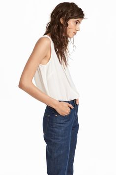 H&M V-neck Blouse Bu