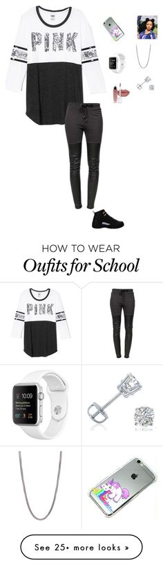 """""""School"""" by swaggyrl on Polyvore featuring NIKE, Victoria's Secret, Ragdoll, David Yurman and Amanda Rose Collection"""