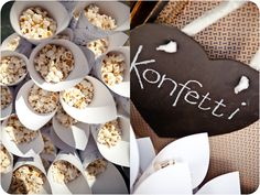 popcorn confetti! LOVE this idea!