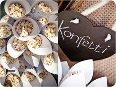 LOVE this idea! Dream Wedding, Wedding Dreams, Wedding Stuff, Popcorn Bar, Wedding Activities, Candy Floss, Gypsophila, Wedding Confetti, Second Weddings