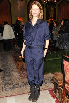 Sofia Coppola looked chic at Julie de Libran's Sonia Rykiel Pre-Fall 2015 presentation in a cool jumpsuit from the designer. See her winning look here. Celebrity Dresses, Celebrity Style, Sofia Coppola Style, Celine, Fashion Articles, Fashion Tips, Fashion Bloggers, Fashion Styles, Women's Fashion