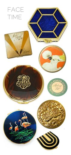 Vintage Make Up Compacts- i love these. i started to collect a few,