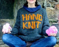 HAND KNIT Sweater Pattern PDF