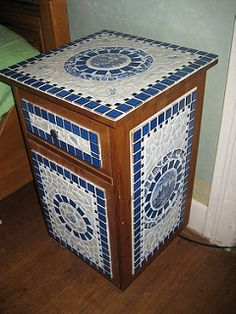 Bedside Table mosaic | by Waschbear - Frances Green