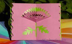 Summer flower pop up card | Mashustic.com
