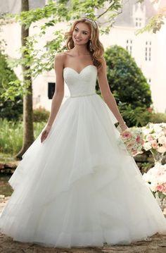 Stella york 6315 new spring 2017 ballgown layered and lace wedding dress