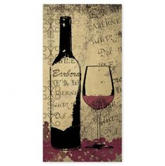 Red Wine 10x20 - Canvas Wall Art - Events