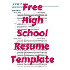 high school senior resume