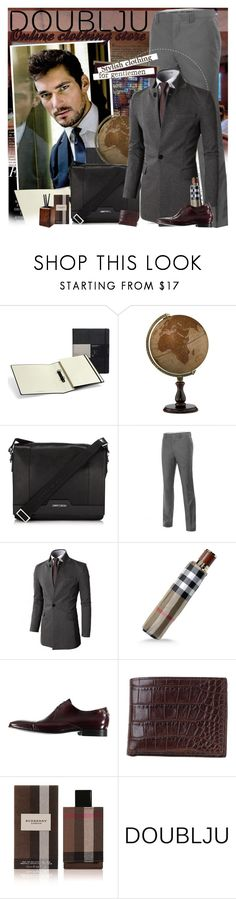 """""""DOUBLJU - Stylish clothing for gentlemen!"""" by doublju-company ❤ liked on Polyvore featuring Victoria Beckham, Moleskine, Thos. Baker, Jimmy Choo, Doublju, Burberry, Paul Smith, Moore & Giles, White Label and menswear"""