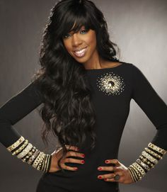 Density Sexy Wave Glueless Front Lace Human Hair Wig With Bangs Peruvian Virgin Hair Lace Front Wig For Black Women Kelly Rowland Style, Miss Kelly, Wigs With Bangs, Full Bangs, Clip In Hair Extensions, African American Women, Beautiful Black Women, Beautiful Ladies, Amazing Women