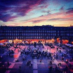 Plaza Mayor in Madrid, Madrid -- http://www.timeout.com/madrid/attractions-and-museums/plaza-mayor Whether you're in town for three days or three weeks, you must visit at least three essential spots before you leave. The first is Plaza Mayor, where you can relax with an expensive cup of 'café con leche', study the equestrian statue of Felipe III is in the centre of the square and do some pretty good people watching around the Tourist information Centre.