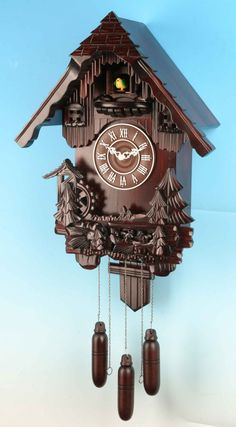 Image detail for -cuckoo clocks >> semca cuckoo made in germany with a weather clock . Cuckoo Clocks, Old Clocks, Antique Clocks, Antique Decor, Coo Coo Clock, Black Forest Germany, Clock Work, Grandfather Clock, Christmas Home