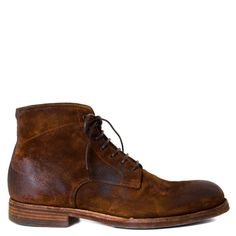 """This Fall and Winter staple will be your favorite pair of boots this season. Pantanetti Biserno features remarkable craftsmenship and genuine Italian materials. Pair these with some outerwear like a jean or leather jacket!  Men's lace-up boot Handmade in Italy Oiled suede upper 100% leather construction Leather sole with rubber protection 1 1/4 inch heel Lace up closure Casual oiled soft suede boot   Fits: True to Size  Our fit experts say, """"This shoe runs true to size. Please c..."""
