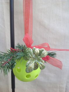 Pickleball Ornament by BetterThanBellows on Etsy