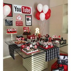 Kylie Birthday, Baby Girl Birthday, 12th Birthday, Happy Birthday Gifts, Birthday Party Favors, Birthday Party Decorations, Birthday Ideas, Youtube Theme, Youtube Party
