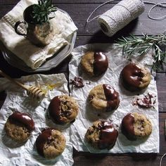 Rosemary, Hiddles, & Honey Chocolate-Dipped Cookies recipe on Food52