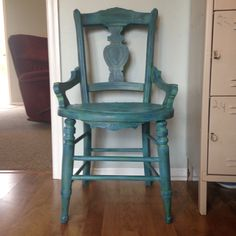 Had so much fun painting this cute chair.