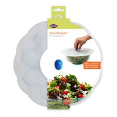 Great for preventing spills when cooking, moving and storing food, these lids also lock in moisture and freshness with an airtight seal. Place on pots or bowls and away you go.