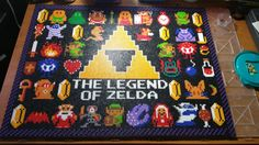 Zelda perler bead wall hanging by RetroVideogamethings