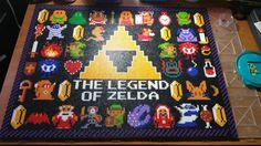Zelda perler bead wall hanging by RetroVideogamethings