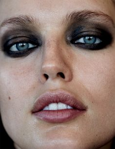 Emily DiDonato shows off a smokey eyed makeup look