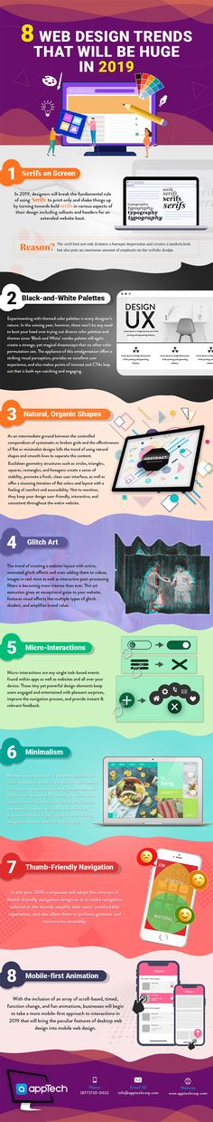8 Cool Web Design Trends for a Modern Business Website in 2019 [Infographic]