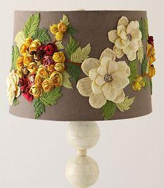 anthropologie flower lamp shade